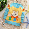 2016 Fashion cartoon sweater Children sweaters Kids' lovable sweater baby boy's pullovers baby outerwear FOR 2-4T 3colors