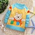 2016 Moda dos desenhos animados camisola das Crianças camisolas Dos Miúdos adoráveis camisola baby boy pullovers bebê outerwear PARA 2-4 T 3 cores