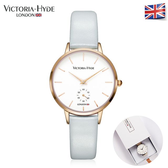 Victoria Hyde 2017 Fashion Summer Womens Watches Luxury Brand Leather Band Ladies Dress Quartz Wristwatches Waterproof Gift Box