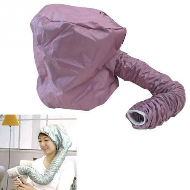 Portable Salon Hair Dryer Useful Home Soft Hood Bonnet Attachment Haircare for Hair Styling Hair Smoothing random color