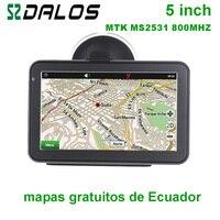 Ecuador GPS 5 inch Car GPS navigation with free maps of Ecuador