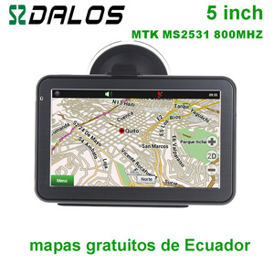 Ecuador GPS 5 inch Car GPS nav
