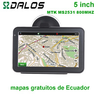 Ecuador GPS 5 inch Car GPS navigation with free maps of Ecuador
