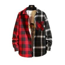 8c545bfc3e335 Los hombres camisa de manga larga casual 2019 nuevo primavera otoño suelto  cuadros rayas cómodo suave