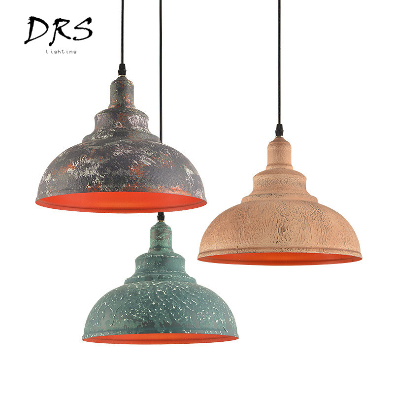 Retro Industries Colorful Chandelier Old Iron Art Pot Cover Pendant Lamp Art Restaurant Leisure Bar Coffee Shop Lighting E27Retro Industries Colorful Chandelier Old Iron Art Pot Cover Pendant Lamp Art Restaurant Leisure Bar Coffee Shop Lighting E27