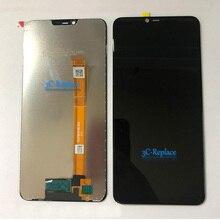 100% ทดสอบสีดำ 6.2 นิ้วสำหรับ Oppo AX5 CPH1851 จอแสดงผล LCD Touch Digitizer อะไหล่กรอบ