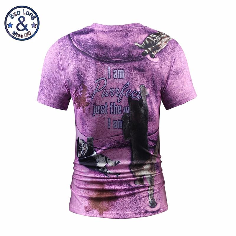 2017 Mr.1991INC&Miss.GO Summer New Men/Women 3D Printing Fake Bathrobes Short Sleeves T-Shirt Printing Cat Trend Apparel Tops S-