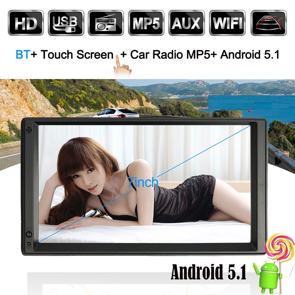 2 DIN Android Car Radio GPS WIFI 5.1 Mut