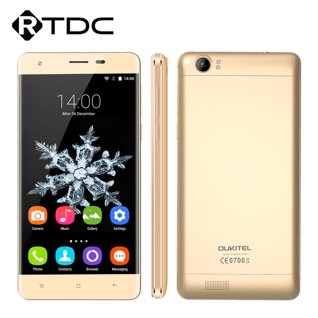 Original Oukitel K6000 Smartphone 5.5'' HD 4G LTE MTK6735P Quad Core Android 5.1 2GB RAM 16GB ROM GPS Dual SIM 6000mAhBattery