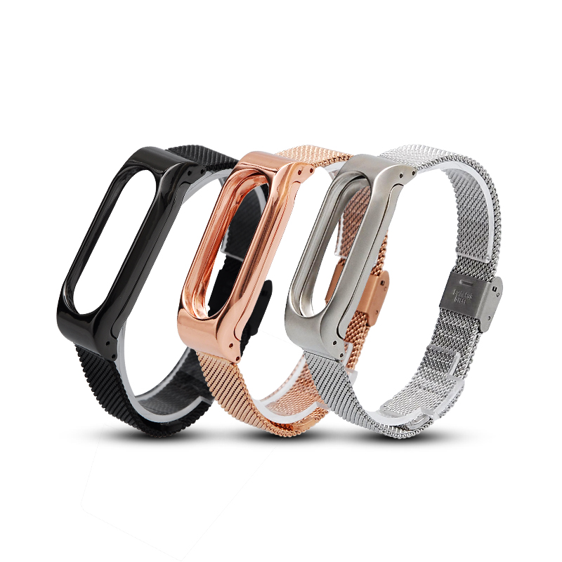 For Xiaomi mi band 2 Strap Stainless Steel Bands Replace Straps Mesh Metal Milanese Bracelet Belt Milan Men Women Business New for xiaomi mi band 2 replace wrist strap