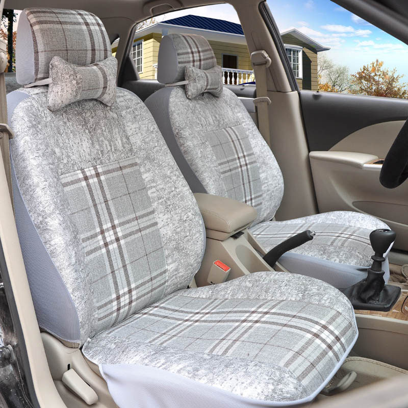Yuzhe flax Universal car seat covers For Volvo XC60 XC90 S60L S90 V40 V60 S60 V70 S40 ar accessories styling cushion