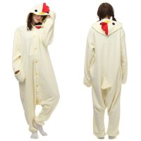 Creamy White Chick Animals Sleepwear Onesies Cosplay Costume Kigurumi Pajamas Adult Unisex