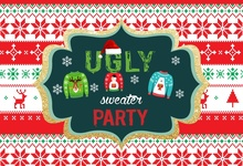 Laeacco Ugly Party Sweater Baby Children Photography Background Customized Photographic Backdrops For Photo Studio