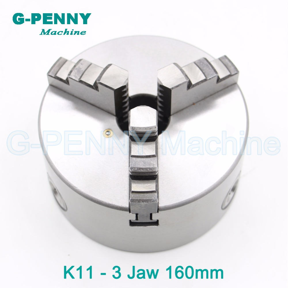 CNC 4th axis A axis 160mm 3 jaw Chuck self-centering manual chuck K11 fourth jaw for CNC Engraving Milling machine Lathe Machine cnc milling machine part rotational a axis 80mm 3 jaw chuck page 5