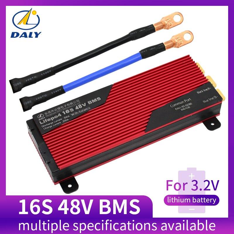 Дейли 3,2 В LifePo4 16 s 48 В 80A 100A 120A 150A18650 BMS Защита аккумулятора доска с сбалансированный lithiumion литиевая батарея модуль