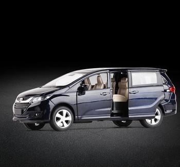 Wysoka symulacja Honda Odyssey 1 32 skala alloy samochód z napędem pull back modelu odlewany metal pojazdy zabawkowe 6 otwarte drzwi darmowa wysyłka tanie i dobre opinie hangjue 3 lat don t eat 11235 Inne Certyfikat 2016152202015916 Diecast