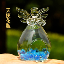 Blessing angel vases, glass vase hydroponic flower implement creative decorations free shipping