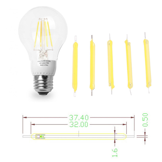 Candle Light Source Filament Bulb Super Bright 5Pcs/Set Lighting COB Lighting