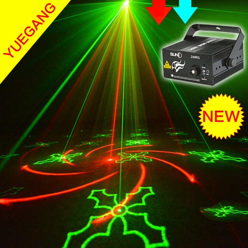 Critical to promote! Remote control 3 hole 40 in 1  acoustic stage lighting disco bar KTV hi radium shoots the light цена 2017