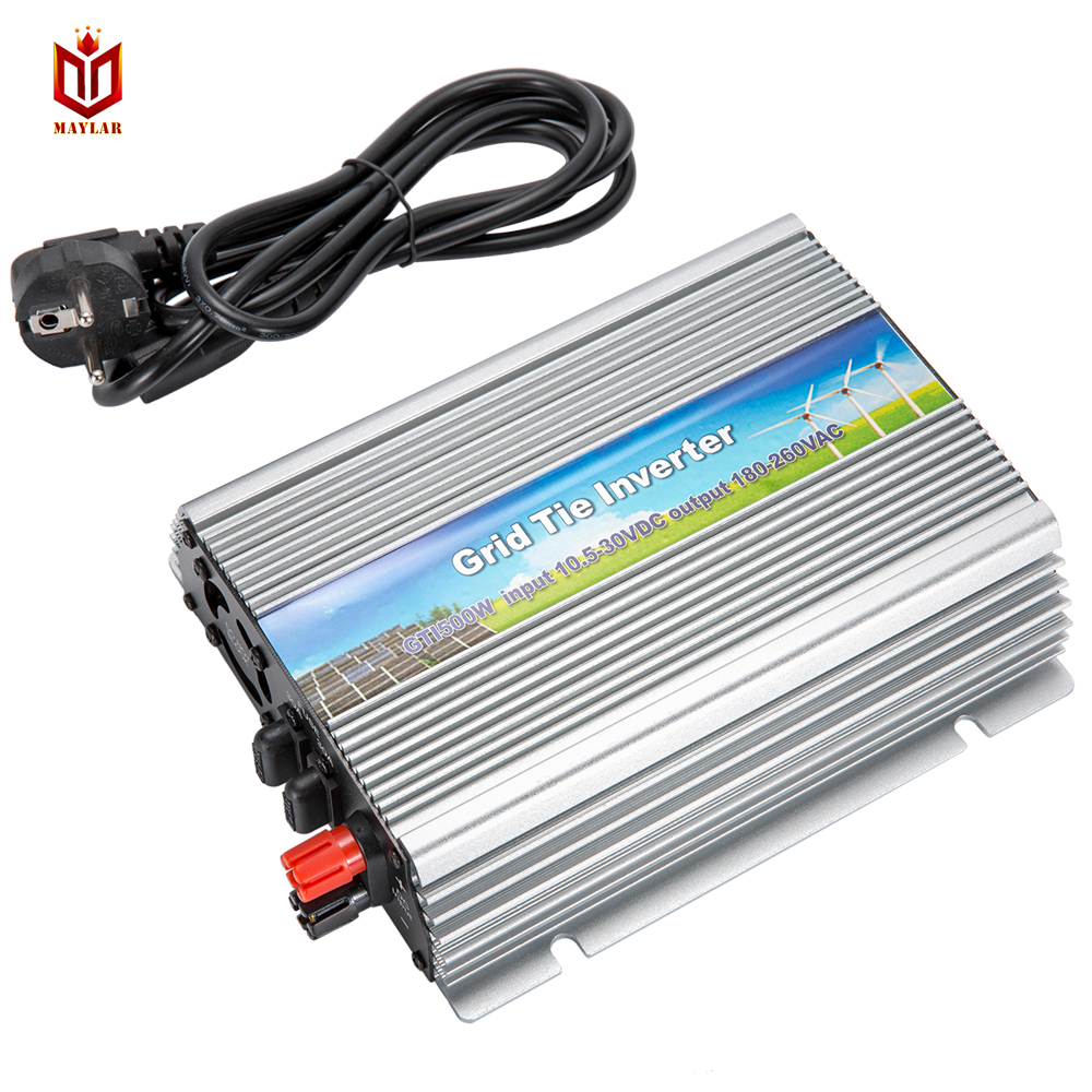 MAYLAR@ MAYLAR@ 10.5-30VDC 500W Pure Sine Wave Solar Grid Tier Inverter Output 190-260VAC Power Inverter For Home Solar System moncler