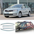 4pcs New Smoked Clear Window Vent Shade Visor Wind Deflectors For Skoda Rapid