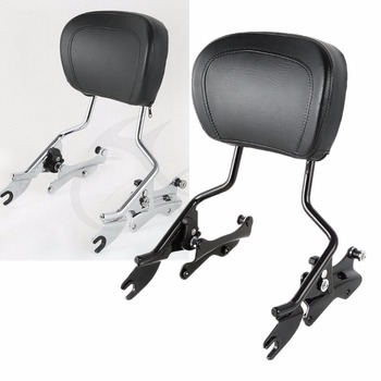 Motorcycle Sissy Bar Backrest Pad 4 Point Docking For Harley Touring Electra Glide Street Glide Road King 2014-2018