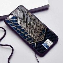 Аниме Нападение На Titan Pattern Силиконовый Чехол Case для iphone 6 6 S