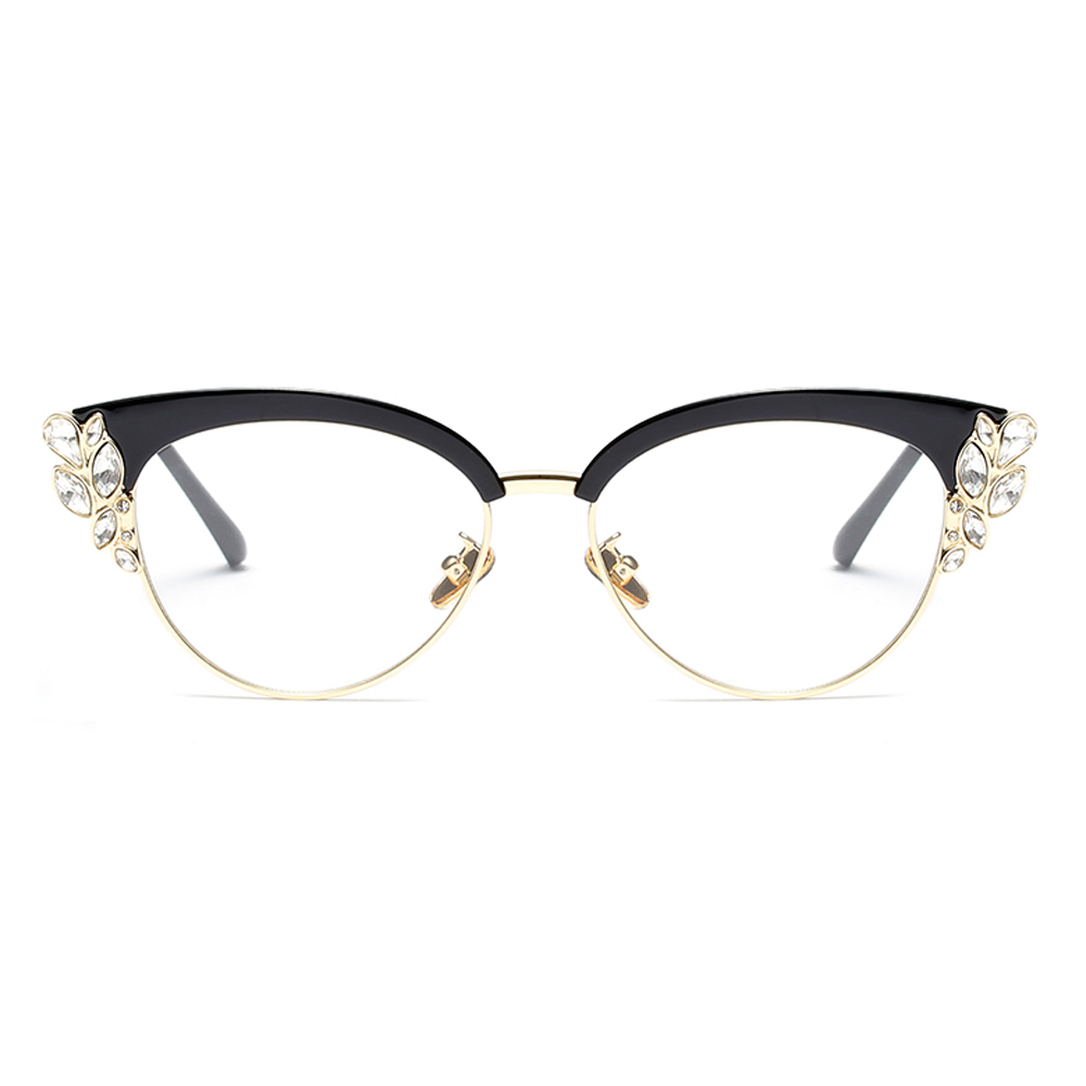 Peekaboo strass cat eye brillen rahmen für frauen marke designer ...