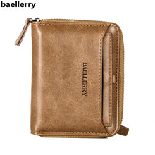 Baellerry Brand Wallet Men Wallets Short PU Leather Male Wallet Purse Card Holder Fashion Man Zipper Wallet carteira masculina цена в Москве и Питере