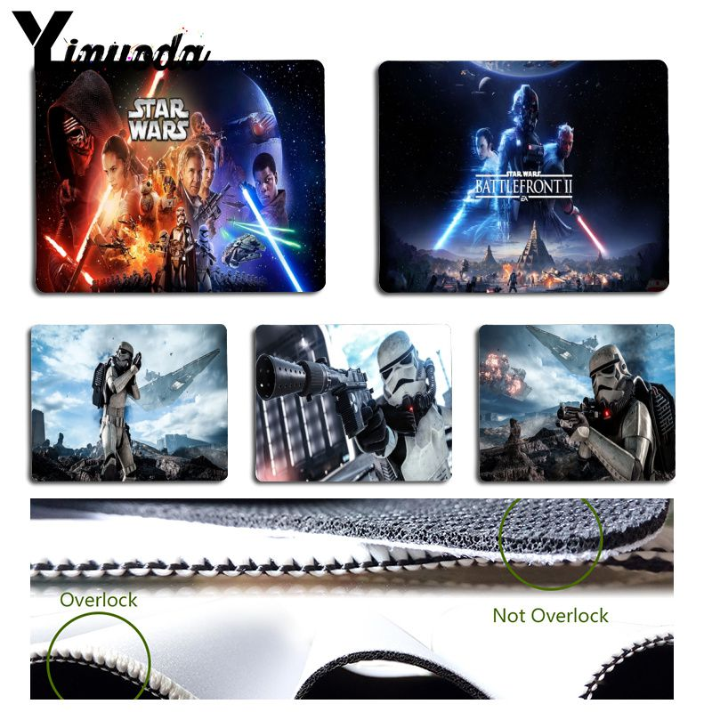 Yinuoda Simple Design StarWars Stormtrooper Robot Pattern Game mousepad Gaming Mouse Pad Not Lockedge Mouse Mat Keyboard Pad image
