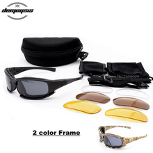 Sports Polarized Tactical Military Goggles Army Sunglasses Shooting Glasses Sunglasses 4 Lens Outdoor Hiking Hunting Eyewear