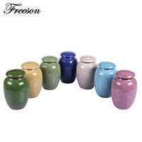 Traditional Chinese Crackle Glaze Porcelain Tea Storage Chests Food Puer Green Tea Caddy Canister Kongfu Tea