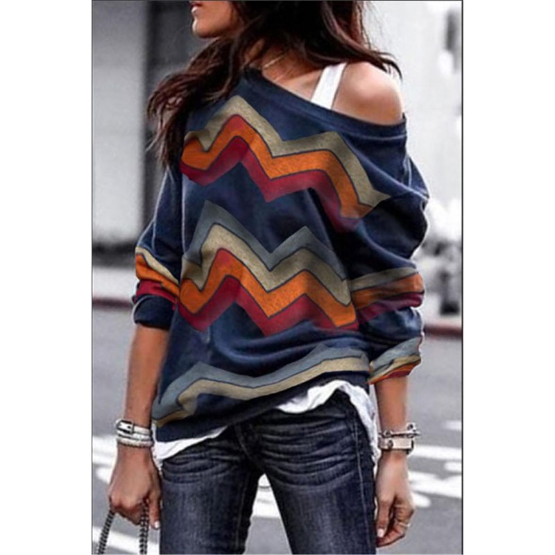 Spring Sweater Women Casual Long Sleeve Sexy Off Shoulder Sweater