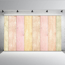 Mehofoto Colorful Wood Floor Photography Background Newborn Backdrop for Photo Booth Studio Custom MW-096