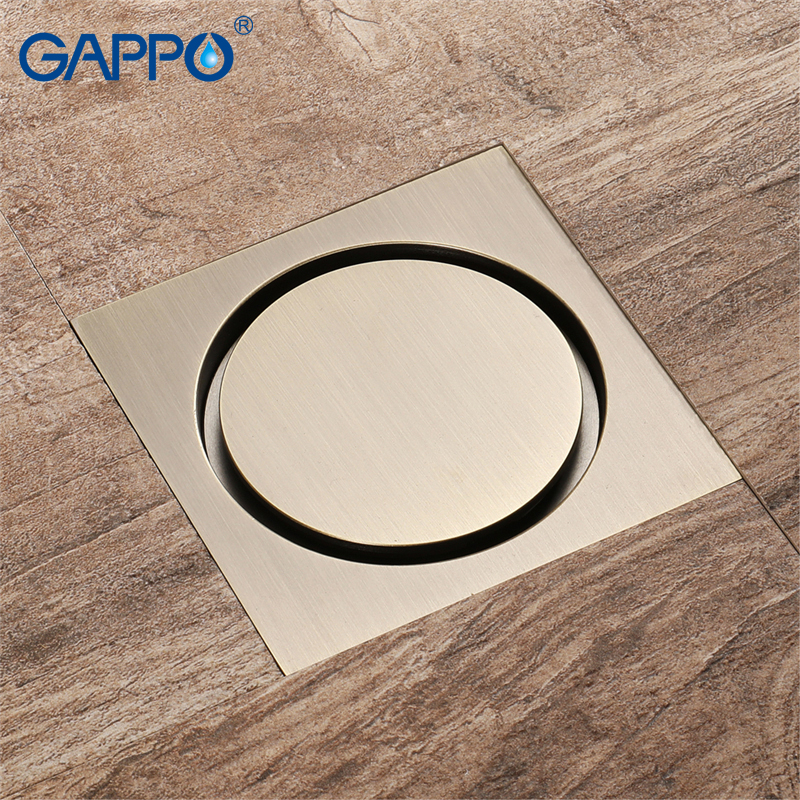 GAPPO drains shower waste drainer bathroom floor cover drains Anti-odor Bathroom Floor Drain bathroom drainers stopper