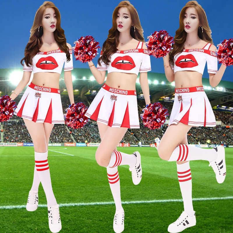 b4b1f6c5 Команда сексуальный костюм для взрослых Женский костюм студент Баскетбол  детские молодежи Черлидинг женщин полк корейский Танцы