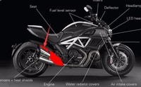 Medium Exhaust Cover For Ducati Diavel 2015 2016 Full Carbon Fiber 100%