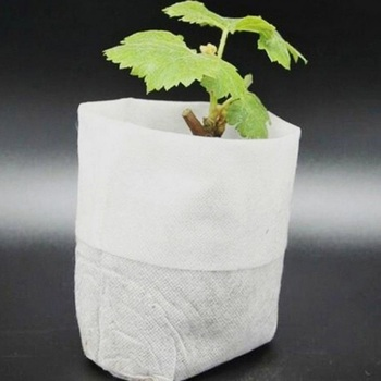 100pcs Household Non-woven Seedling Bag Environmental Protection Garden Planter Grow Bag Garden Supplies