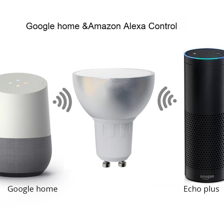6 Stuks GU10 Rgbw Led Licht Werk Met Alexa Echo Google Home Assistance Ifttt Ondersteuning App Voice Timer Smart thuis Lamp - 4