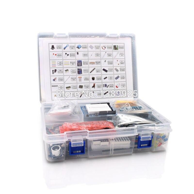 Ultimate Starter Kit Including Ultrasonic Sensor,R3 Board, LCD1602 Screen For Arduino R3 Mega2560 R3 Nano With Plastic Box