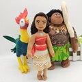 2016 NUEVA Moana Maui Waialik Heihei Felpa muñeca conjunto de juguete de 3