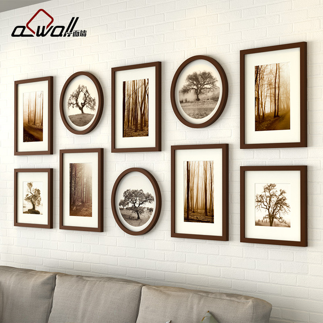 Wood Acrylic Photo Frame 10 Pieces/Set Vintage Photo Frame ...