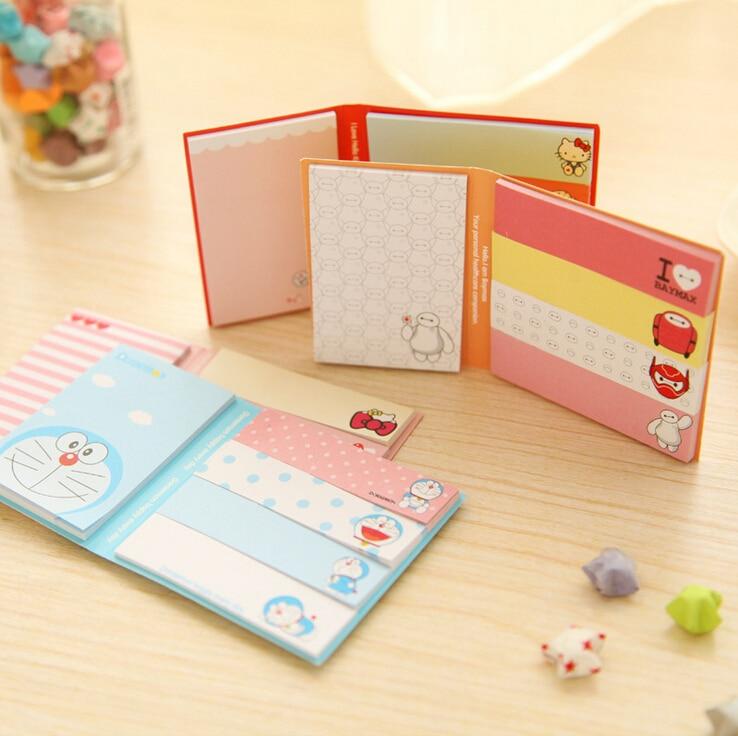 1PC/lot Folding cartoon memo pad Cute animal  sticky notes Post it bookmark Office School supplies Kawaii stationery(tt-1763)