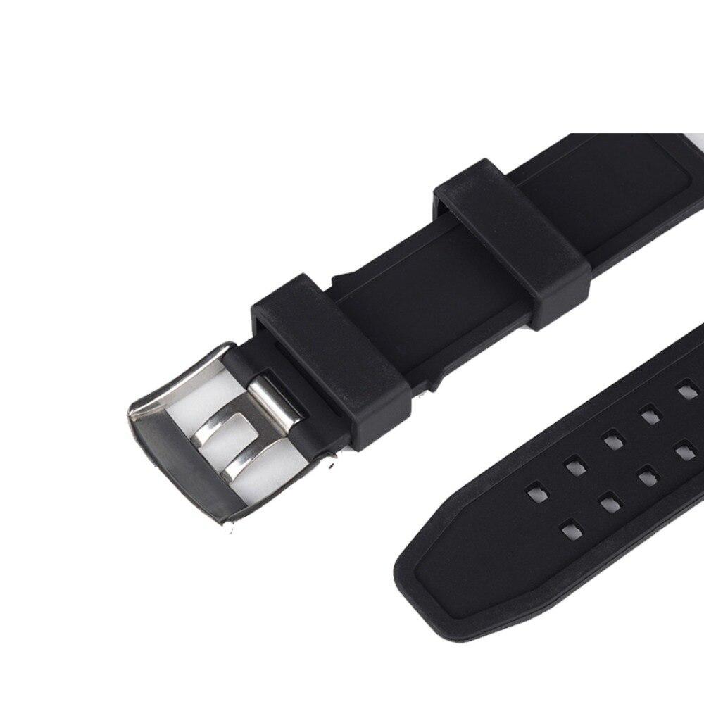 Yelang 22mm bracelet en caoutchouc de silicone