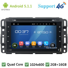 Quad Core 7″ Full Touch 1024*600 Android 5.1.1 Car DVD Multimedia Player Radio Stereo DAB+ 3G/4G WIFI GPS Map For GMC 2015-2016