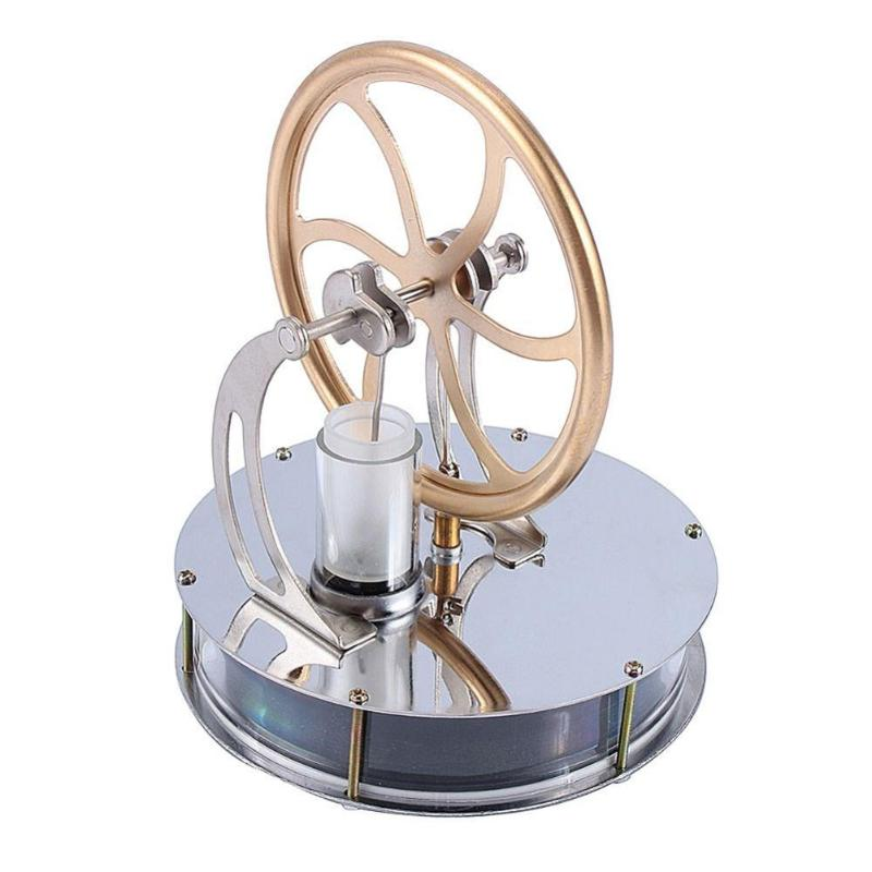Model Building Kits Toys Low Temperature Mini Air Stirling Engine Model Heat Steam Educational Toys DIY Science Experiment Kit