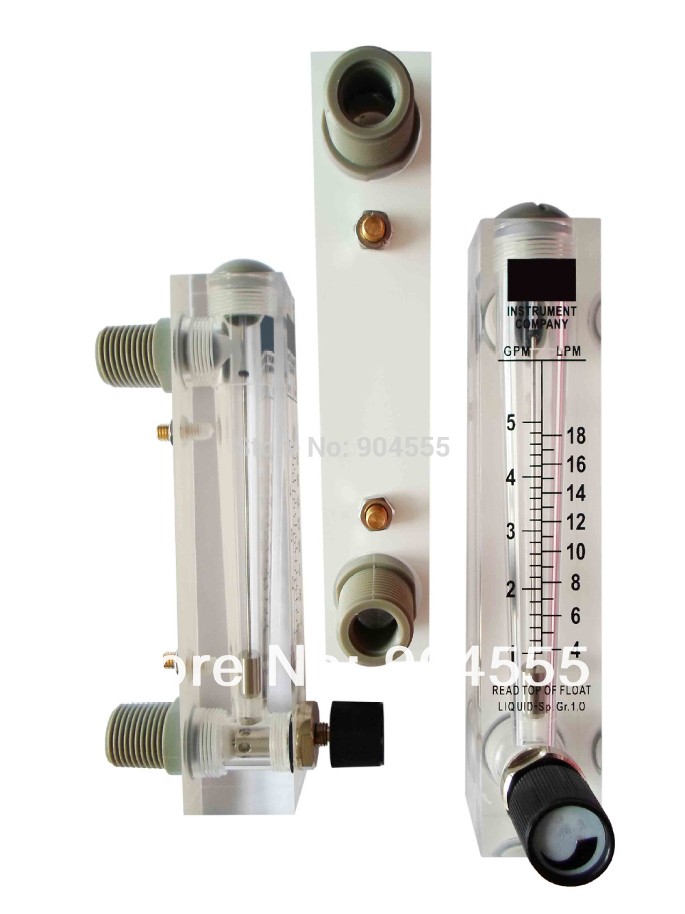 2-18LPM adjustable panel acrylic rotameter flow meter  Water flow meter,Liquid flow controller with adjustable valve