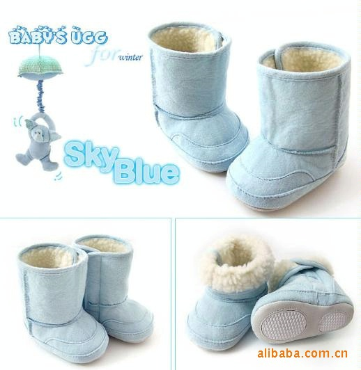 3 цвета, теплая и Милая зимняя обувь/противоскользящие детские ботинки/Обувь для малышей/обувь/Первые ходунки/Детские предходунки - Цвет: Blue