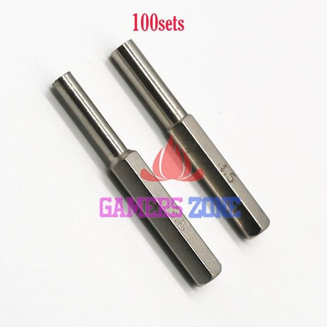 100 zestawów = 200 sztuk 3.8mm 4.5mm Gamebit Hex Tool Bit do oddelegowanych ekspertów krajowych N64 GC i sprzętem do gier konsole Sega gry wkłady
