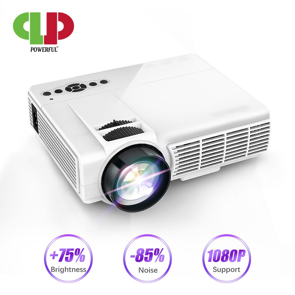 POWERFUL Q5 LED Projector Android 6 WIFI connect phone Full-HD Mini Proyector 1080P 800*600 Resolution Home Theater Cinema Movie xanes a6s